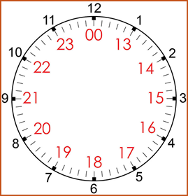 24-Hour Time Clock