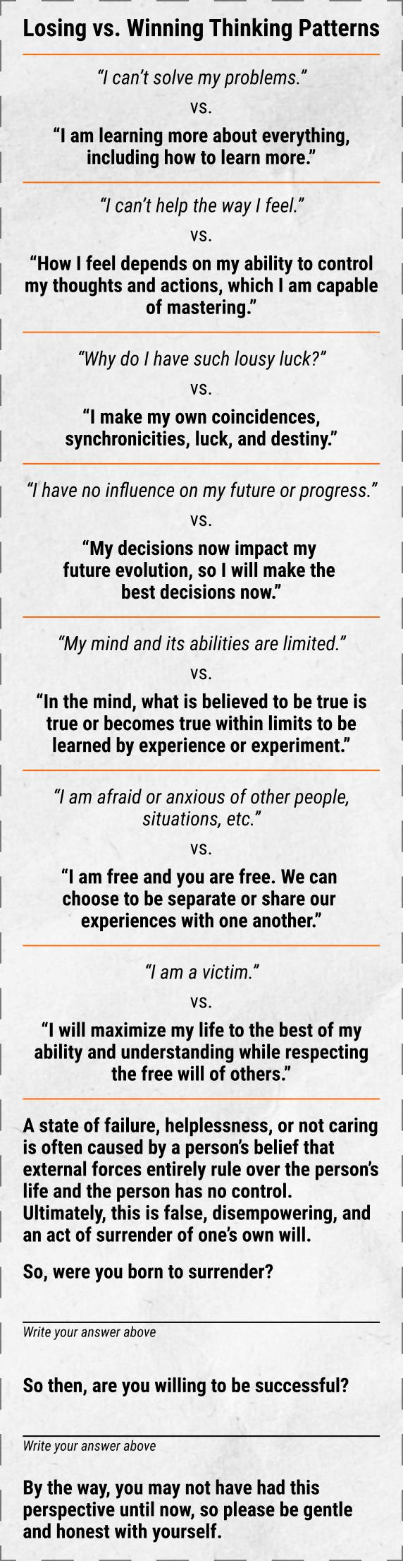 Winning vs. Losing Trading Self-Help Advice